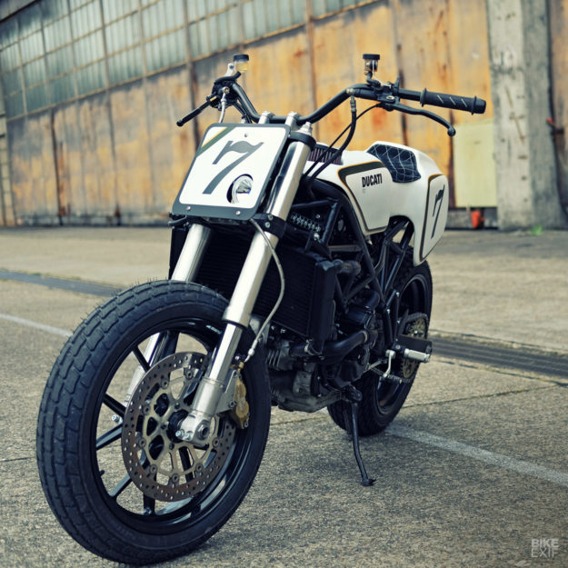 Ducati ST2 flat tracker by Deep Creek Cycleworks