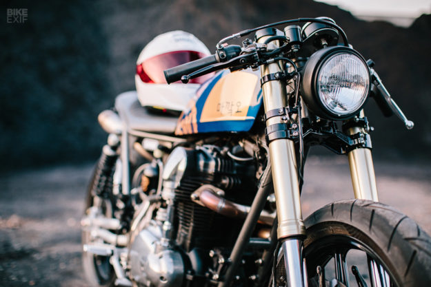 Kawasaki W650 cafe racer with a nitrous kit by Schlachtwerk