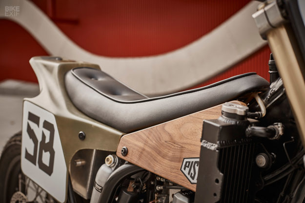 Yamaha WR400F tracker inspired by the Eames Lounge Chair