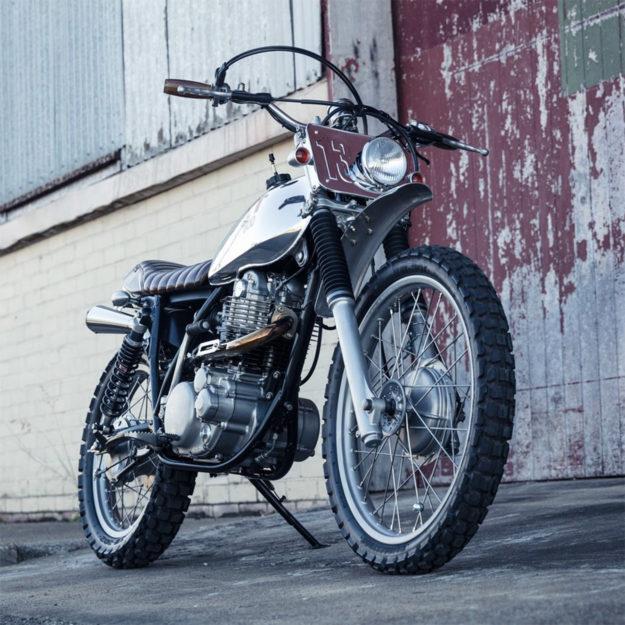 Yamaha XT500 scrambler custom by Andy Rolfe