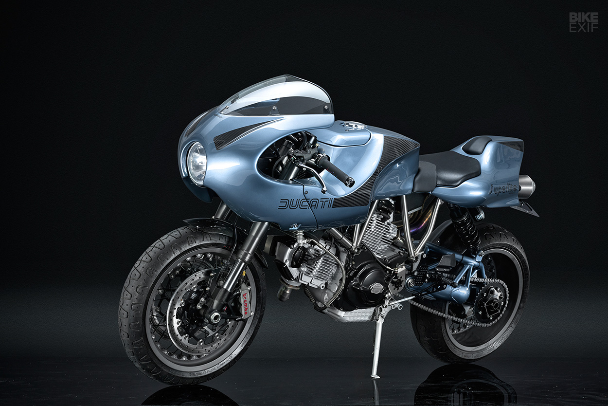 Ducati MH900e cafe racer by Stradafab and Red Max Speed Shop