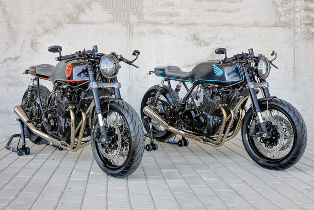 Two Honda CB900Fs by Sylvain Carignan