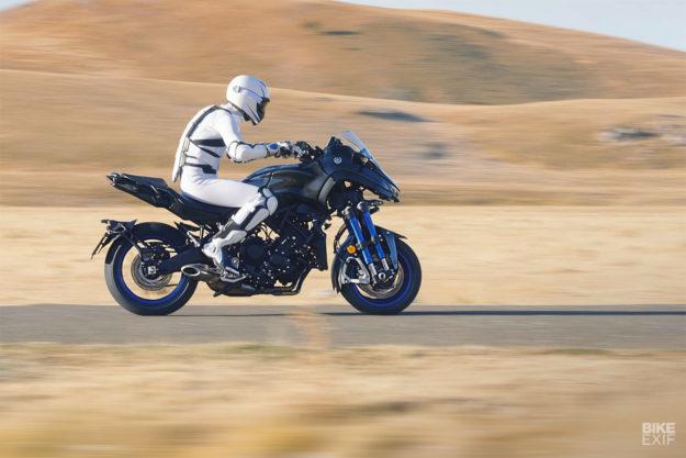 The 2018 Yamaha Niken 'Leaning Multi-Wheeler' motorcycle