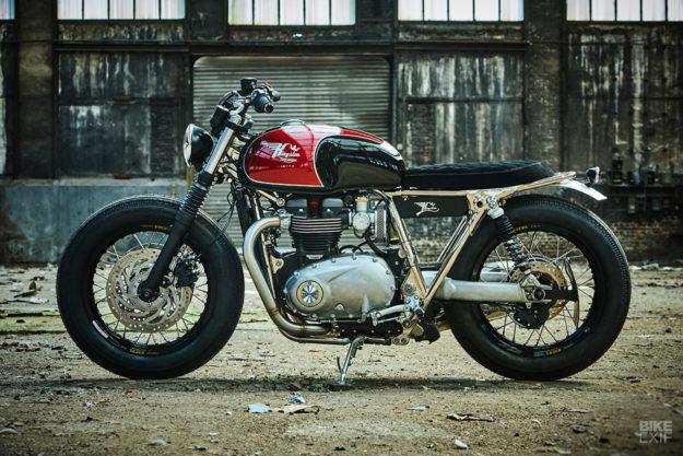 Brat style Triumph Thruxton by Kingston Custom