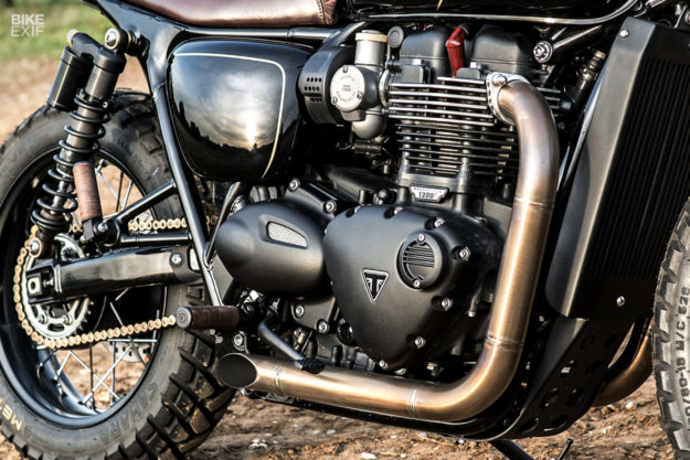 A muscular custom Bonneville T120 from Old Empire Motorcycles