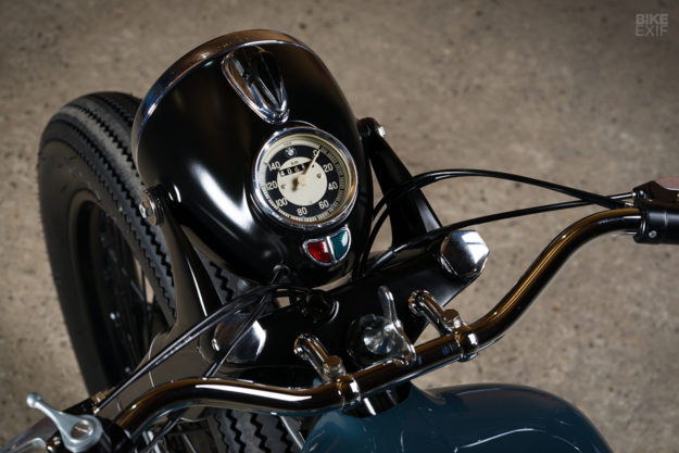 Vintage BMW R51/2 restomod motorcycle