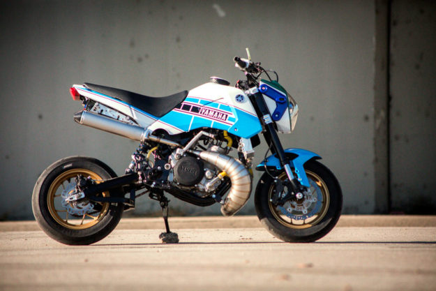 Custom Honda Grom with Yamaha YZ250 engine