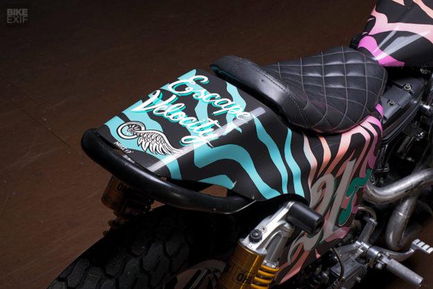 Lazer Zebra: Turning Granddad's old Harley into a Flat Tracker