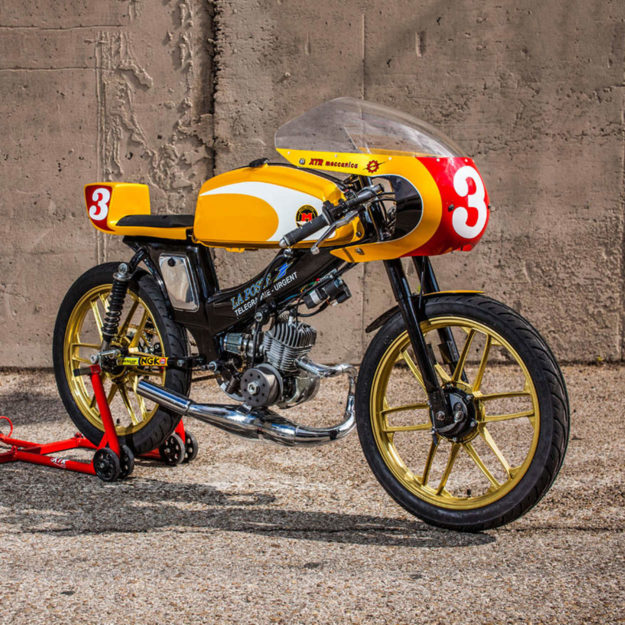 Mobylette cafe racer by XTR Pepo