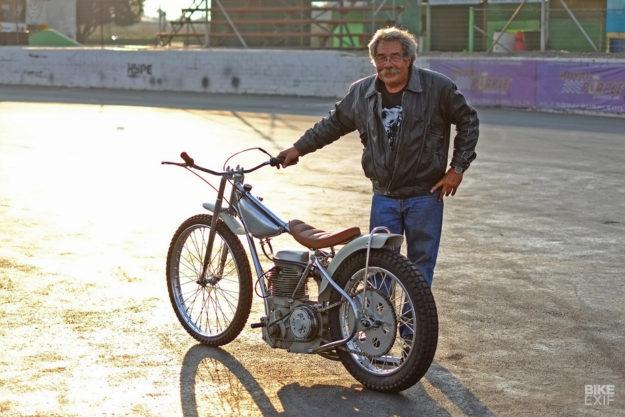 Bobby Hack and the Dutchmann 1968 Jawa speedway bike