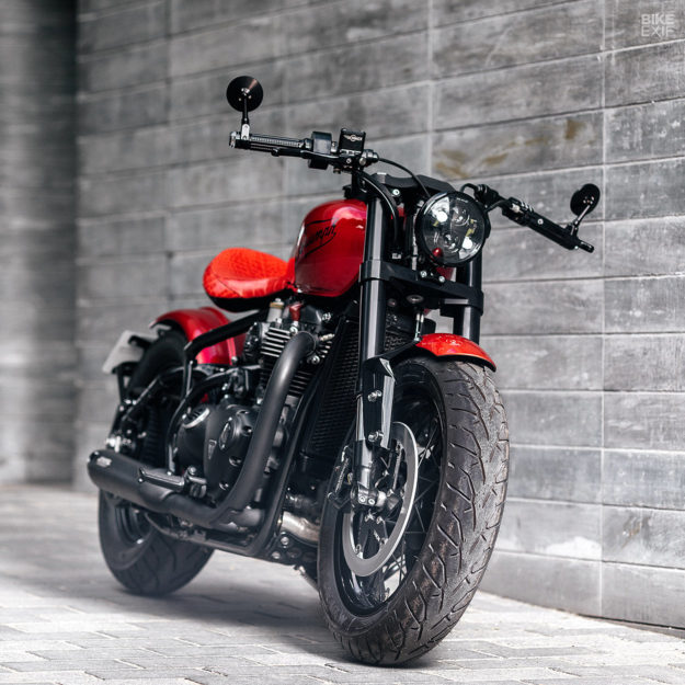 Custom Triumph Bonneville Bobber by Modification Motorcycles
