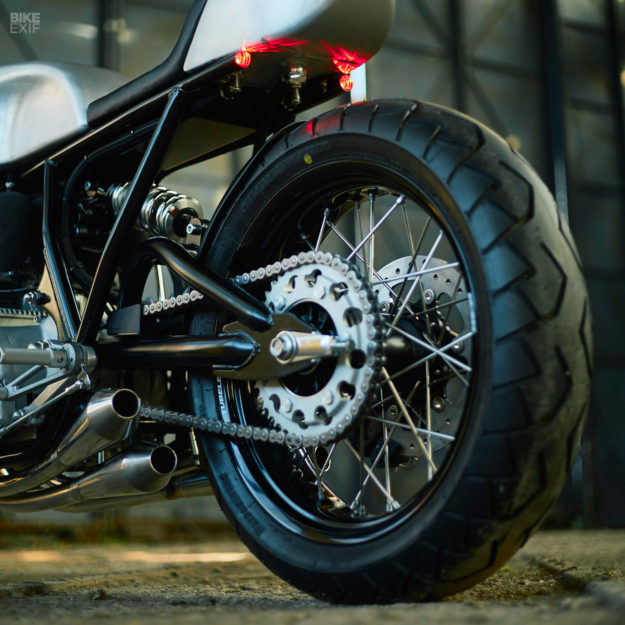 This Honda CB750 cafe racer took three years to build