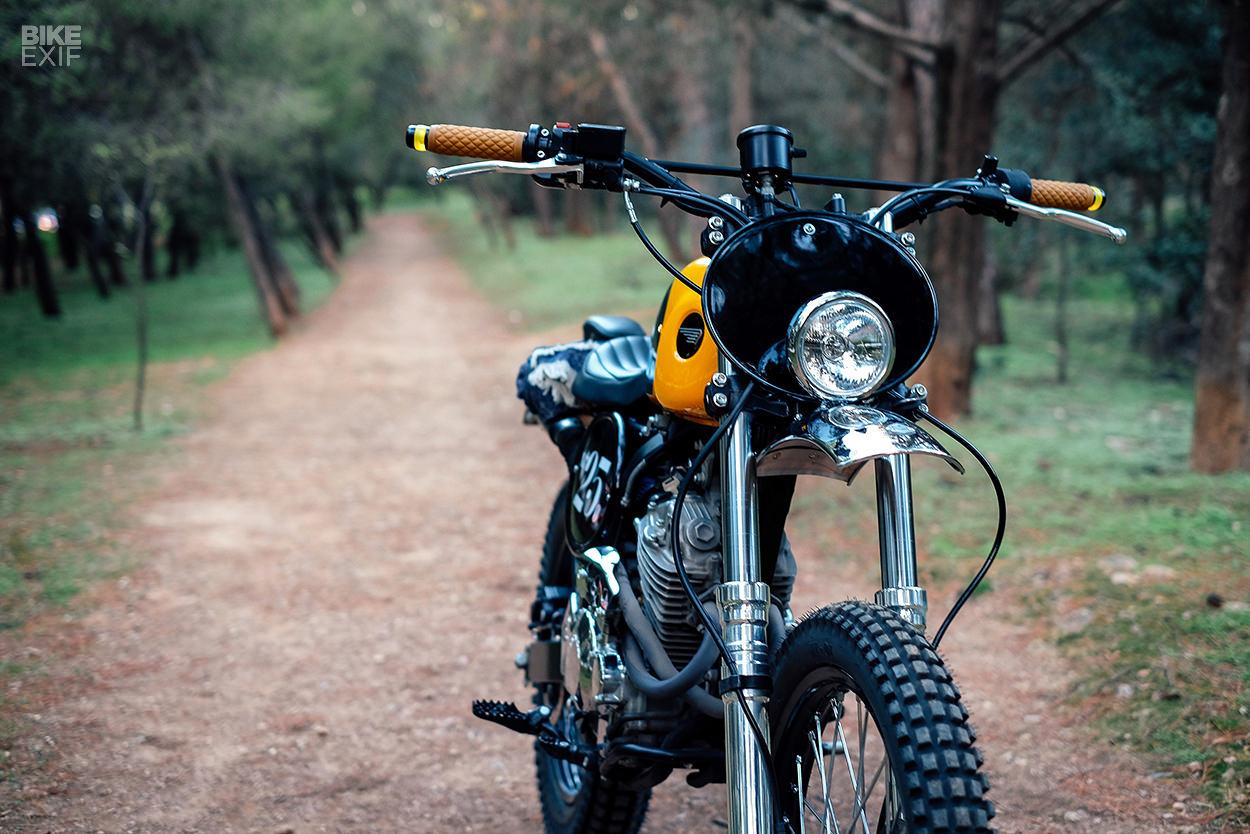Spicy: Urban Mechanics' mustard yellow Honda XR 250 | Bike EXIF