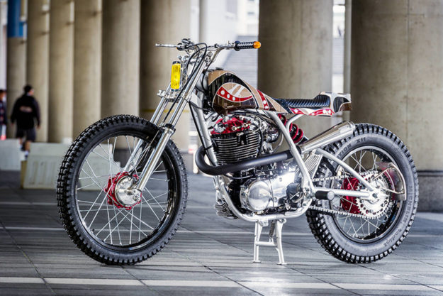 Yamaha SR400 scrambler by Candy Motorcycle Laboratory