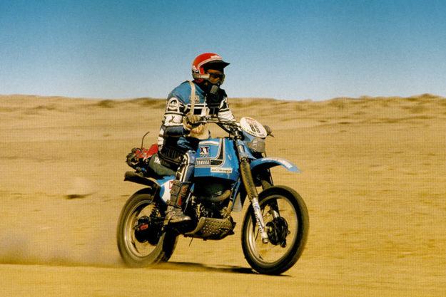 The 1981 Yamaha XT500 Paris-Dakar bike