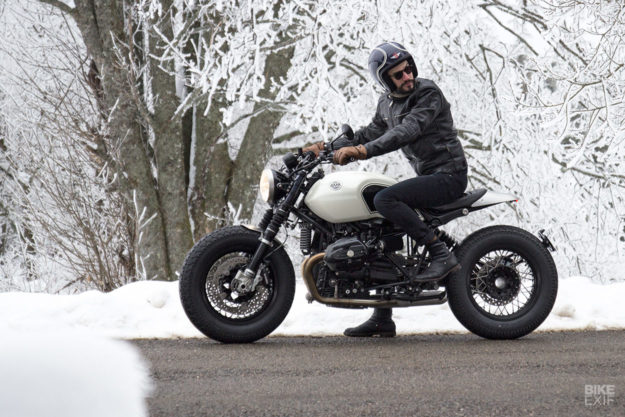 A bobber-tinged kit for the BMW R nineT by BAAK Motocyclettes