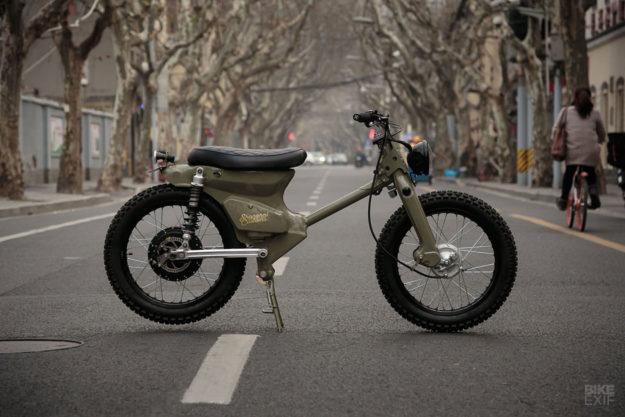 The Shanghai Customs eCub 2 retro electric motorcycle