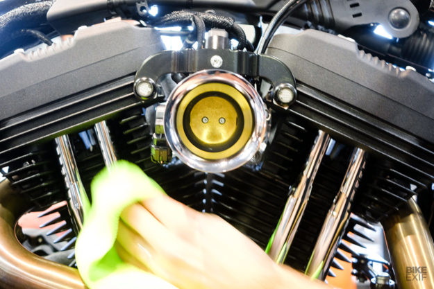The new Harley Sportster Iron 1200, customized at the Mama Tried show