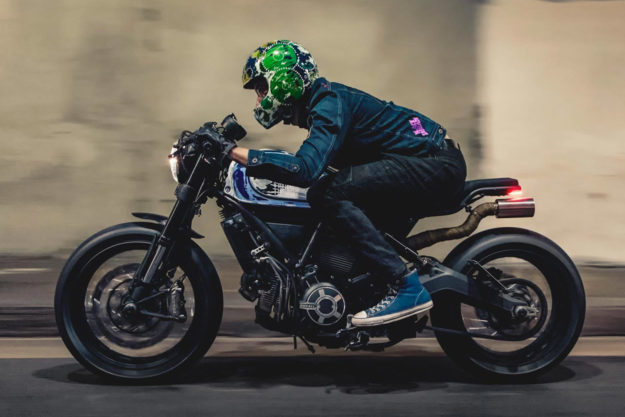 Custom Ducati Scrambler by Chris Nelson of Iron & Air and Lucky Wheels Garage
