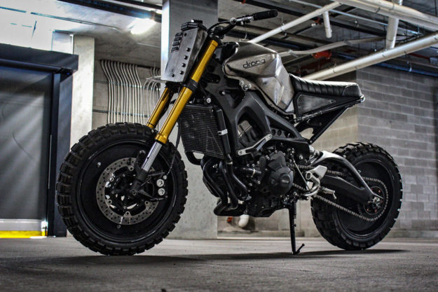 Custom Yamaha FZ-09 scrambler by Droog Moto