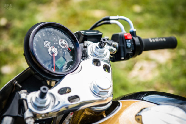 Goldie: A Honda CB400F cafe racer by Shawn Smith of Innovative Motosports
