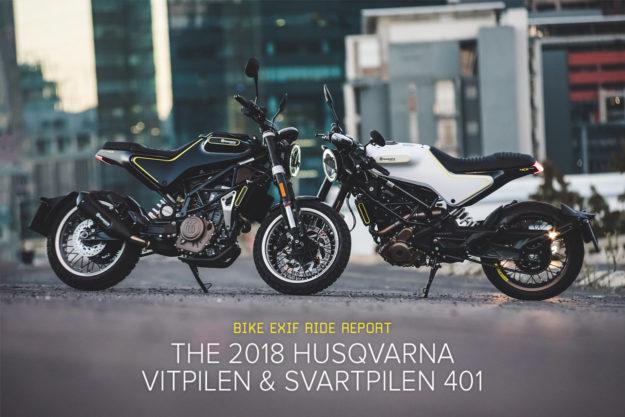 Review: The 2018 Husqvarna Vitpilen and Svartpilen 401