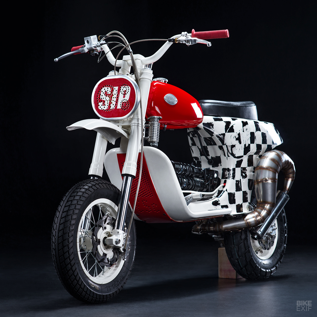 Butchered An Insane Custom Vespa Scooter From Russia Bike Exif