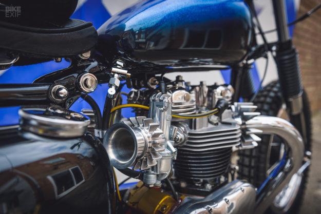 Triumph Tiger T110 restomod scrambler by Retrograde Mechanica