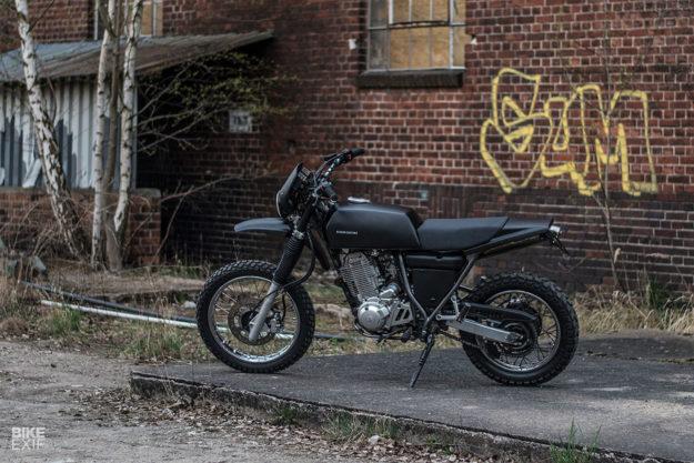 A discreetly modified 2002 Yamaha XT 600 by Berham Customs