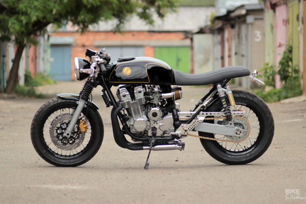 A Honda cafe racer with the best of two engines blended into one