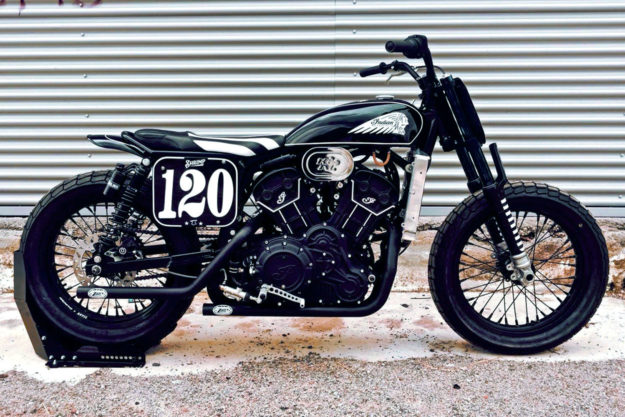 Indian Scout Sixty flat tracker by Anvil Motociclette
