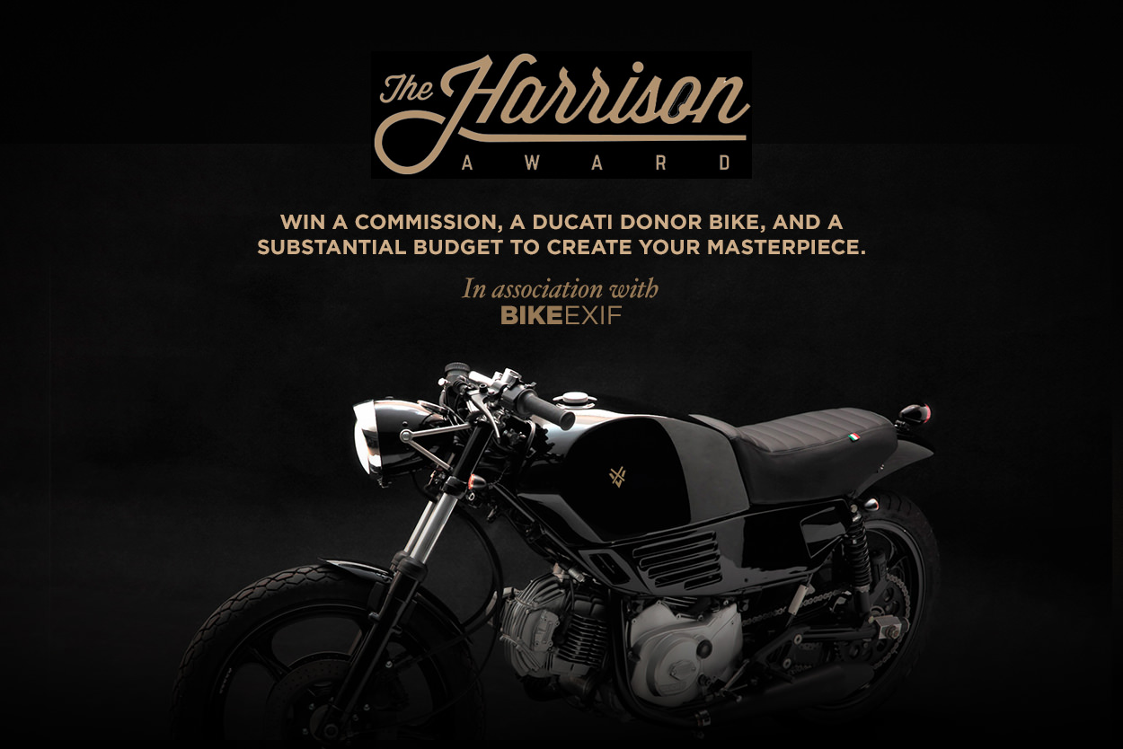 Build a custom motorcycle competition:The Harrison Collection Award presented by Bike EXIF