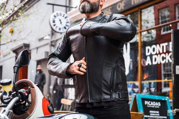 1Self Gear Genesys kangaroo motorcycle leather jacket