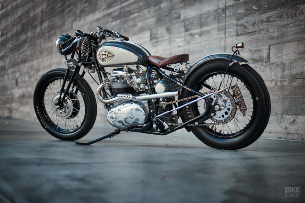 A BSA Thunderbolt bobber by Tesla clay sculptor Richard Mitchell