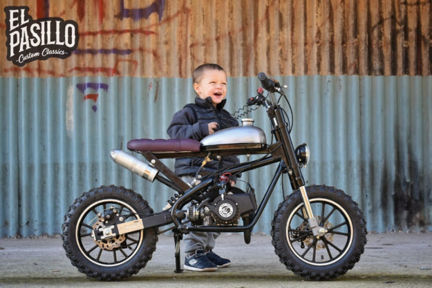 Child's custom Pagani Mini Cross scrambler