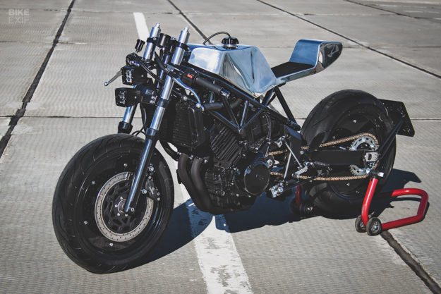 A Yamaha TRX850, revamped by CCW in Moscow