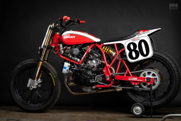 The Lloyd Brothers' Ducati flat tracker
