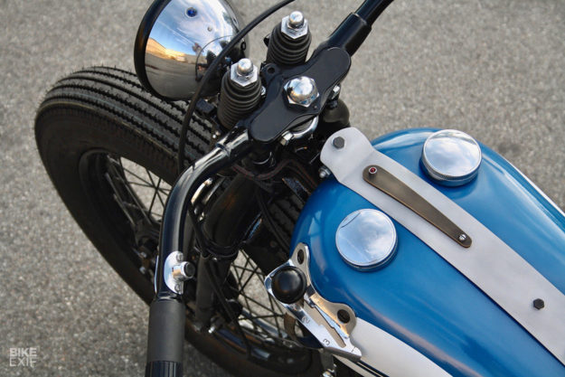 Going out with a bang: the last custom Harley from Jamesville, a WLA bobber.
