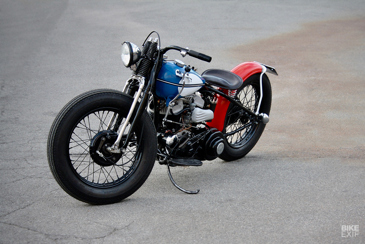 Going out with a bang: the last custom Harley from Janesville, a WLA bobber.
