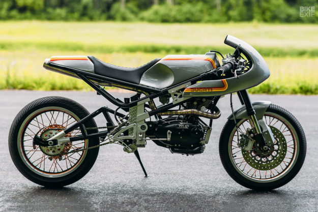 New from Analog Motorcycles: a Ducati 250 single engine in a Moto3 chassis