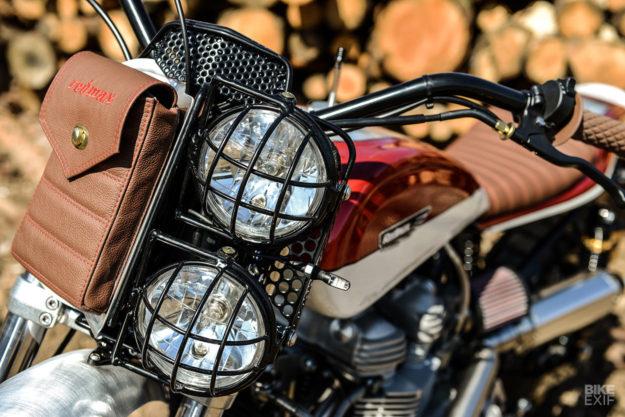 Custom Triumph scrambler by Redmax Speed Shop
