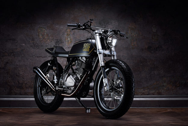 Frozen: An ice-cool Suzuki GN400 street tracker finished in BMW's famous matte paint
