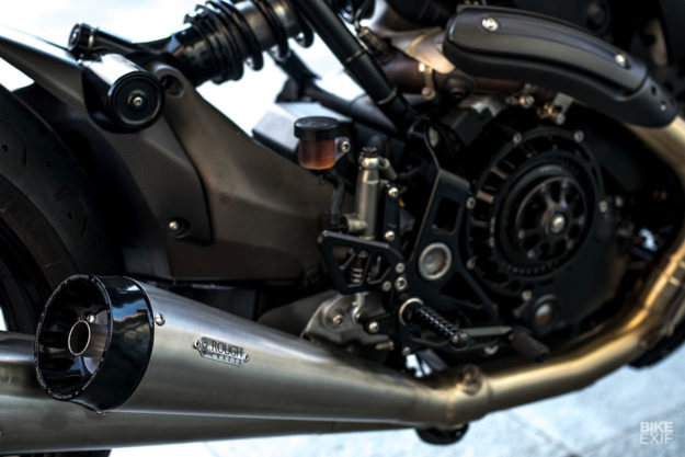 Indigo Flyer: A Ducati Monster 1200 S cafe racer by Rough Crafts