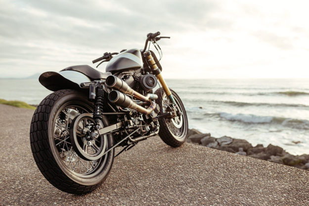 Harley Sportster street tracker by Injustice Customs
