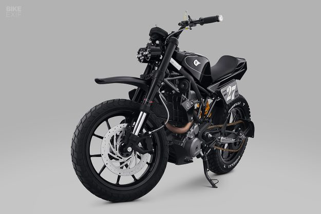 This custom KTM 250 Duke inspired a music track by Kimo Rizky