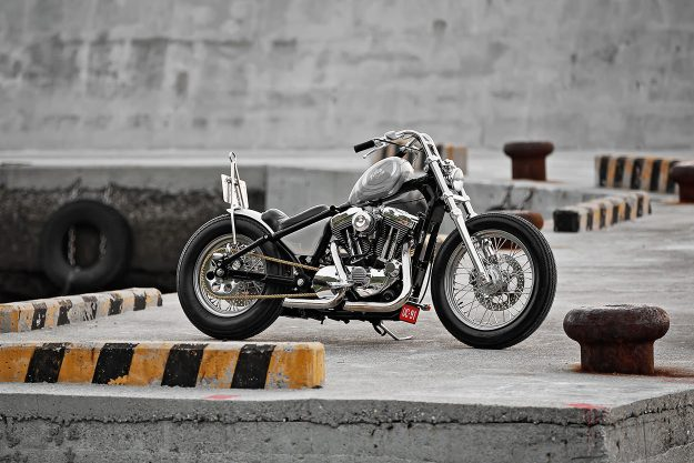 An ingenious Harley Sportster hardtail from 2LOUD