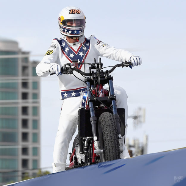 Damage Control: How Travis Pastrana's 'Evel Knievel' Indian FTR750 stunt bike was built