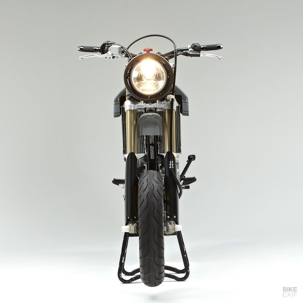A Suzuki DR-Z400SM built for NYC streets by Jane Motorcycles