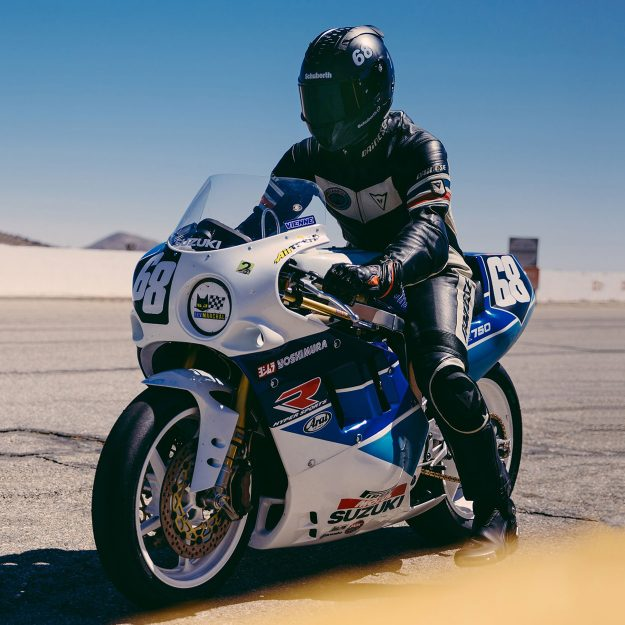 Suzuki GSX-R750 racing motorcycle by Super8cycles
