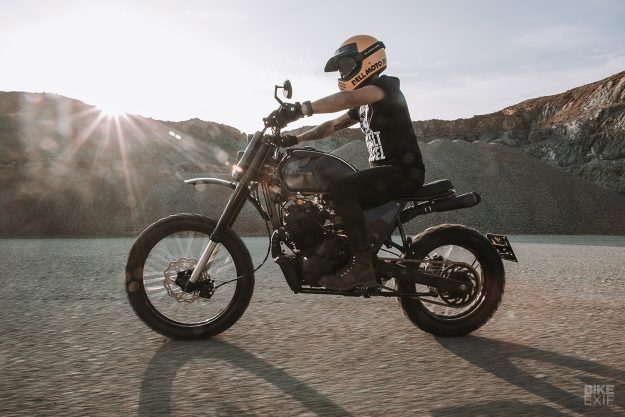 A Honda NX 650 Dominator scrambler from Asphalt and Gravel